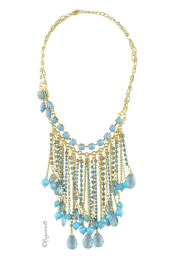 India Bib Necklace (Turquoise)