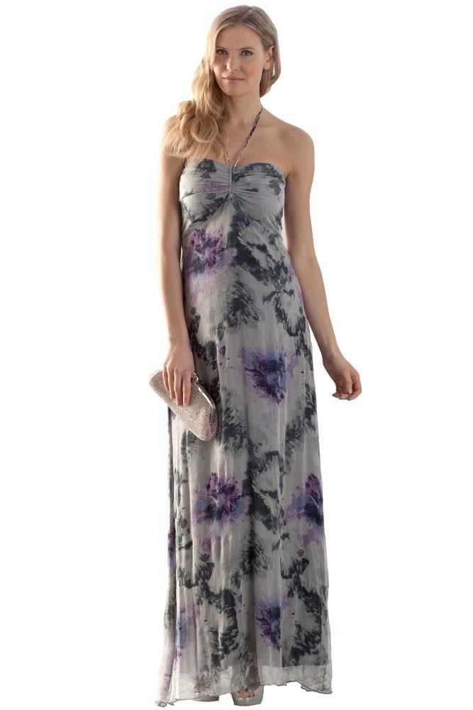 Lavender maternity maxi dress