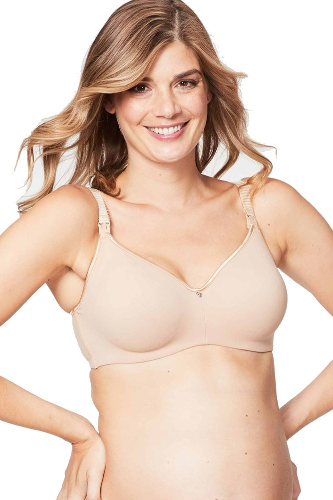 4f1bf9880a1bb Cake Lingerie Croissant Nursing Bra with Flexible Wire in Nude Croissant