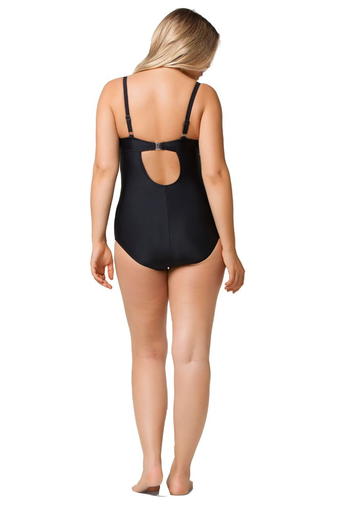 Rosewater By Cake Squash Nursing Bathing Suit In Black