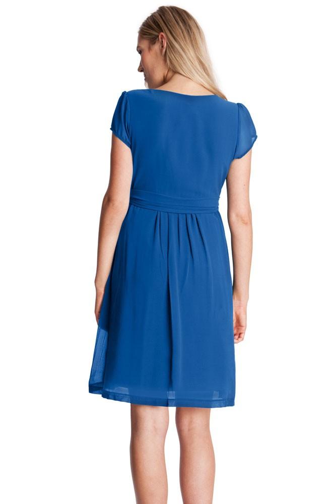 e96dc1b2876f8 Seraphine Jodie Chiffon Pleated Nursing Dress in Ocean