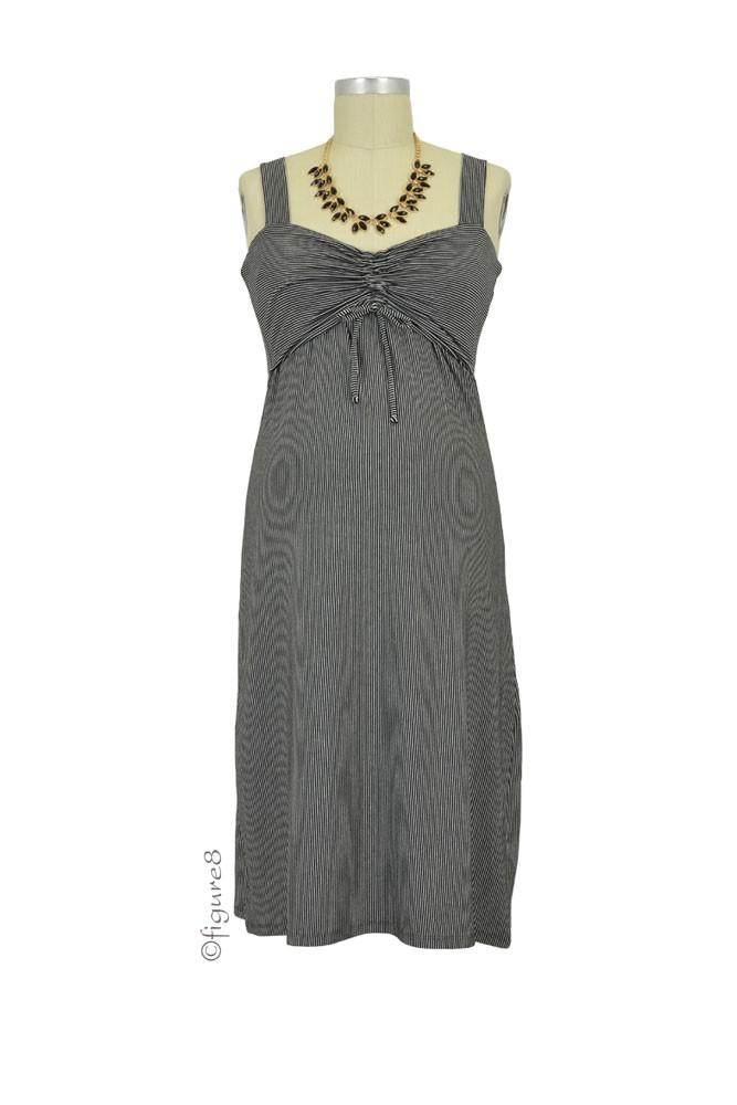f3db765d1afc8 Boob Design Candy Maternity & Nursing Dress in Black & Off White Stripes