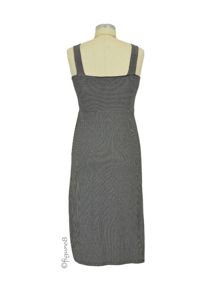 b32c25e05b169 Boob Design Candy Maternity & Nursing Dress in Black & Off White Stripes