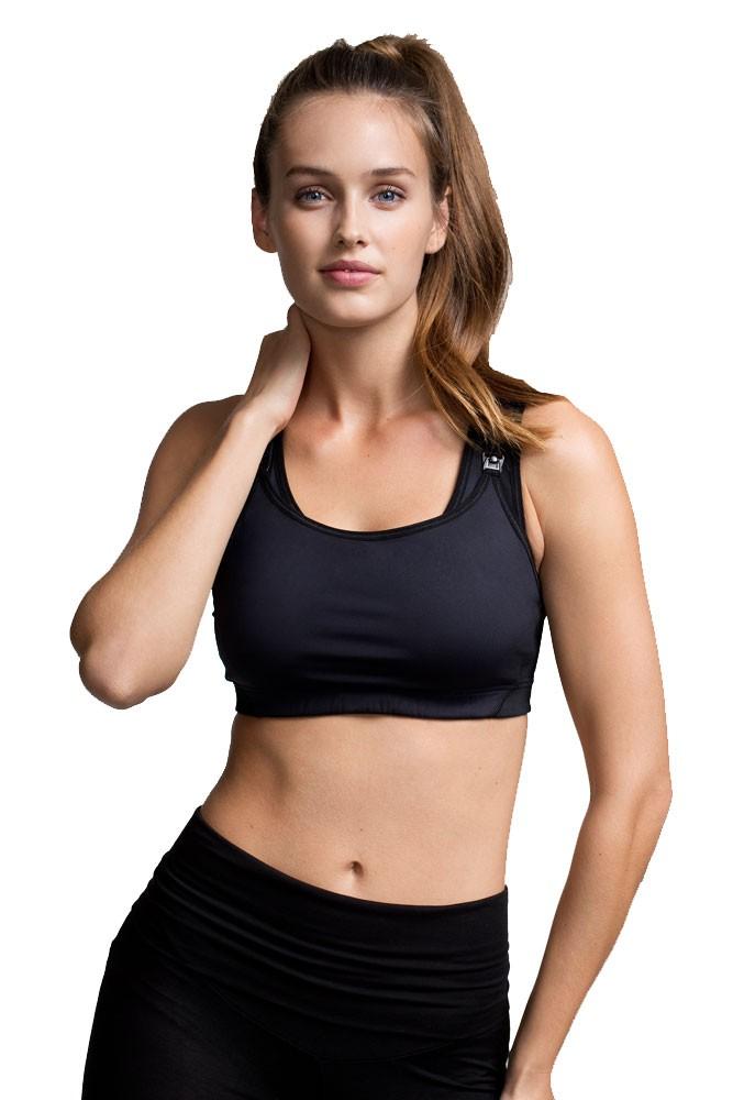 Boob Design Fast Food Nursing Sports Bra in Black