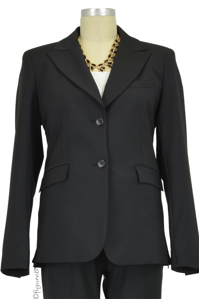Slacks & Co. Zurich Maternity Career Jacket with Side Zippers (Black)