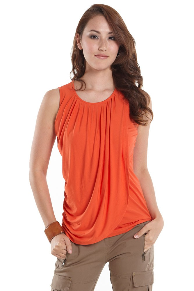 Goddess Drape Sleeveless Maternity & Nursing Top (Tigerlily)