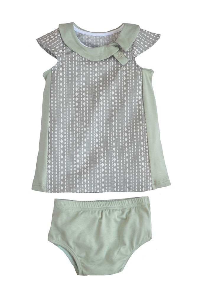 The Jane Baby Dress by Shirley & Victor (Steel Diamond)