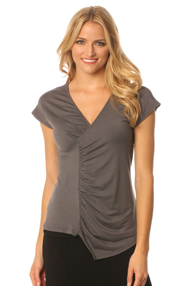 Majamas Melbourne Nursing Top (Gunmetal with Stripes Tube)