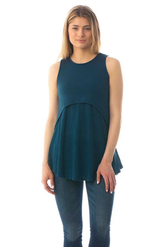 The Strato Maternity & Nursing Tank by Majamas (Blue Lagoon)