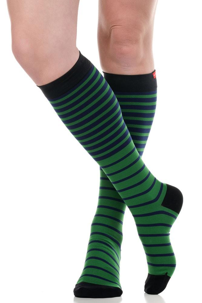 c6d92568e5 Vim & Vigr 15-20 mmHg Women's Stylish Compression Socks - Nylon (Falling  Stripe