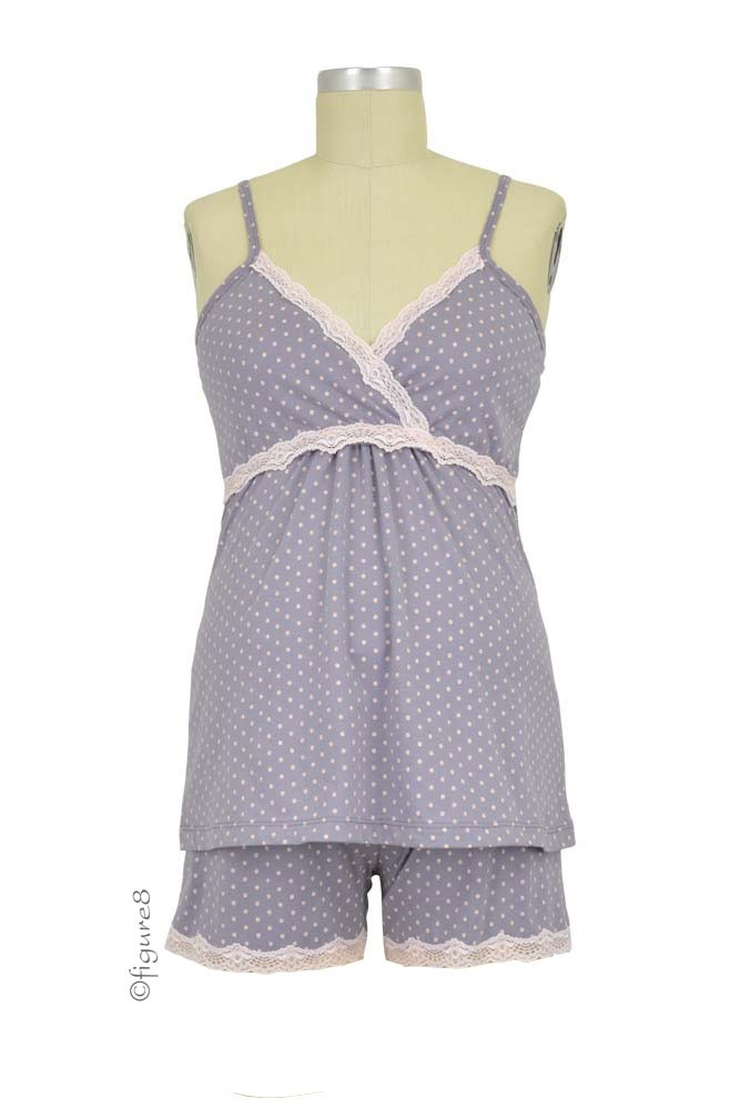 Belabumbum Dottie Nursing Cami & Short Set (Grey Dot)