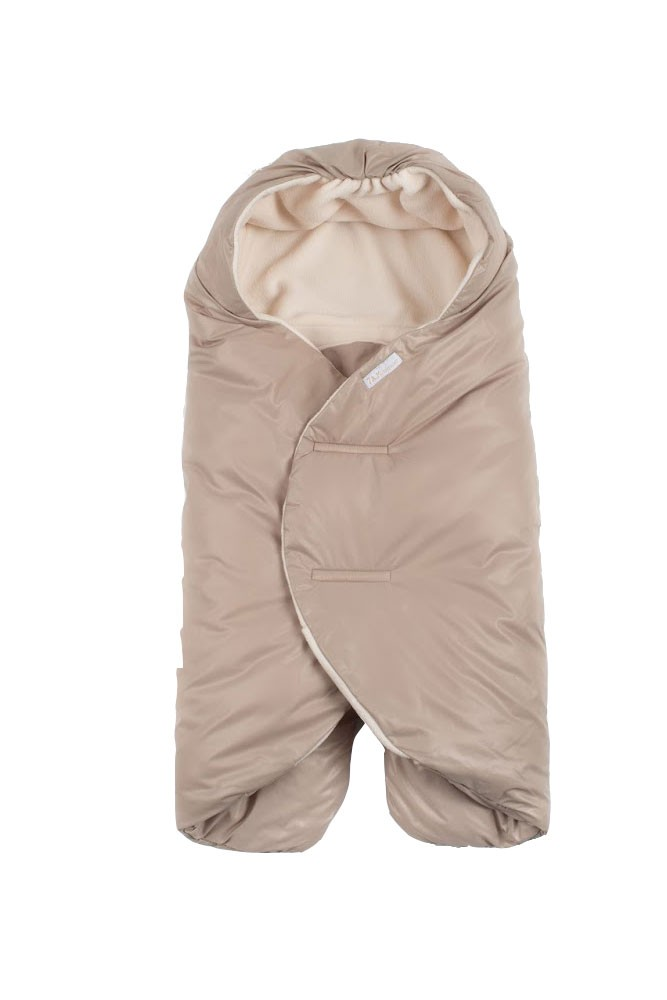 7 A.M. Enfant Nido Quilted Car-seat Baby Wrap - Small (Beige)