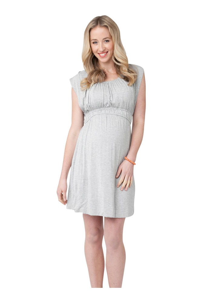 The Louis Nursing Dress (Silver Marle)