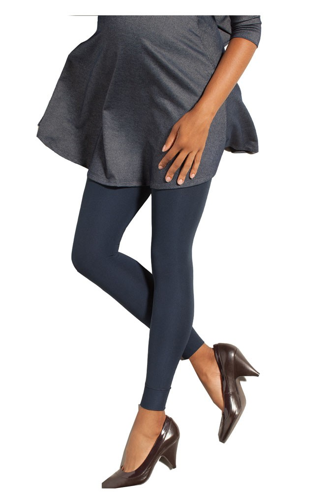 Preggers Gradient Compression Maternity Footless Leggings (10-15 mmHg) (Navy)