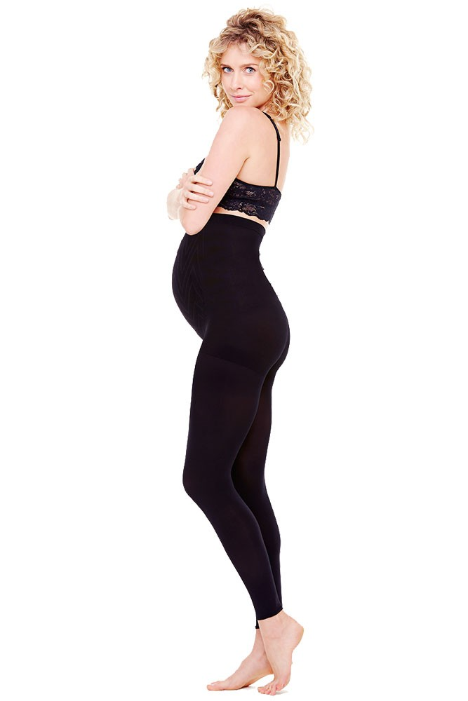 Ingrid & Isabel  Maternity Footless Tights (Black)