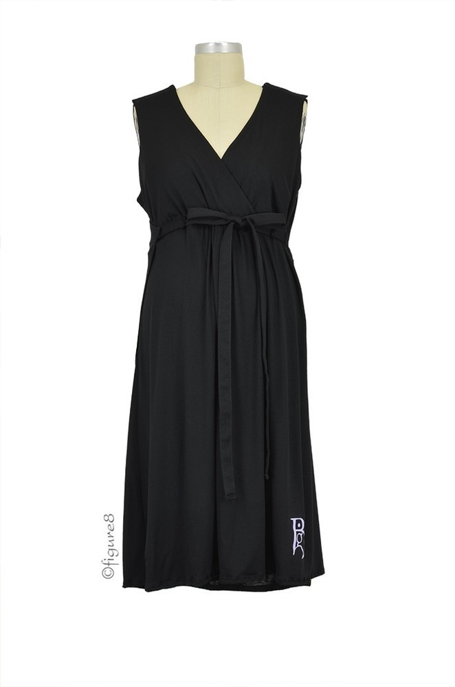 The Nightie-Night BG Birthinggown (with Pockets) in Black by B&G ...