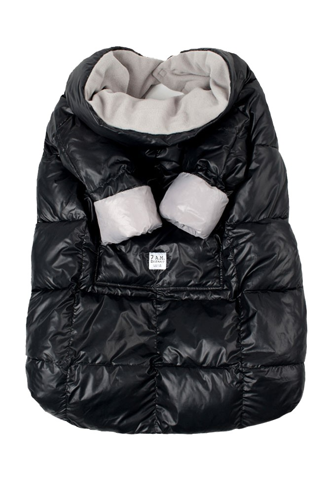 7 am Enfant Quilted Easy Cover (Large: 3y-6y) (Black/Grey)