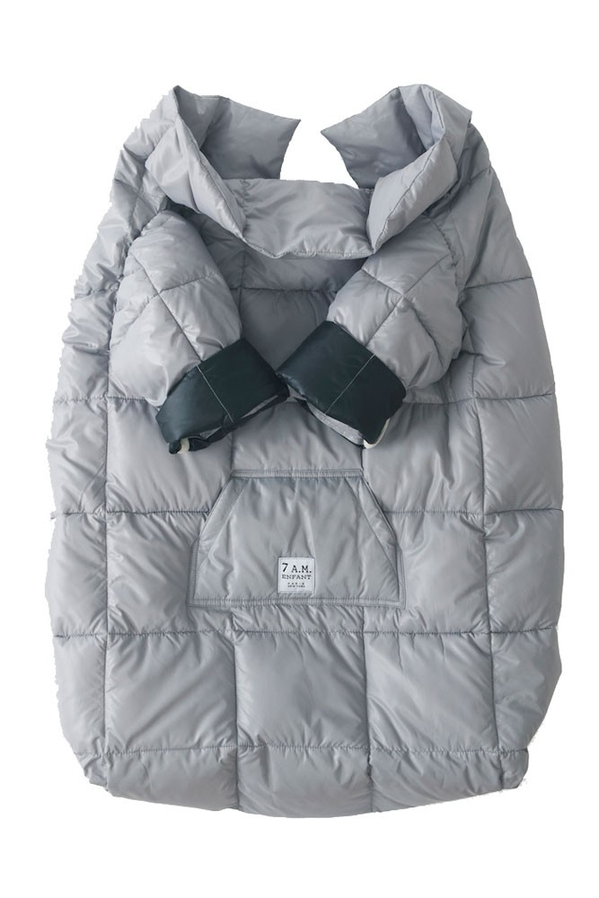 7 A.M. Enfant Quilted Easy Cover (Large: 3y-6y) (Grey/Black)