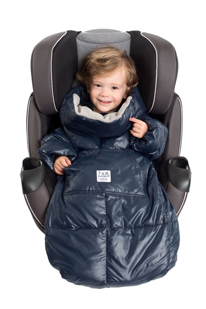7 am Enfant Quilted Easy Cover (Large: 3y-6y) (Midnight Blue/Grey)