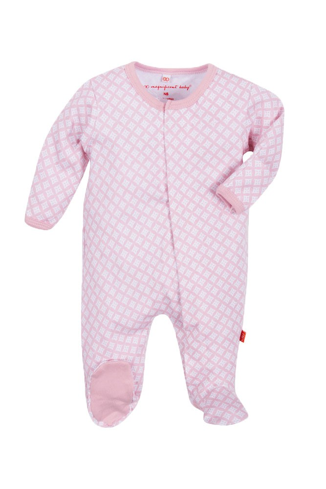 Magnificent Baby Magnetic Me™ Girl's Footie (Pink Diamonds)