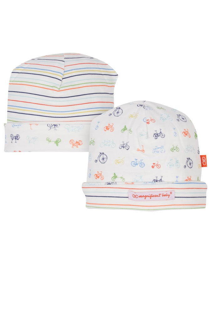 Magnificent Baby Boy Reversible Hat (Boys Bikes for Tykes)