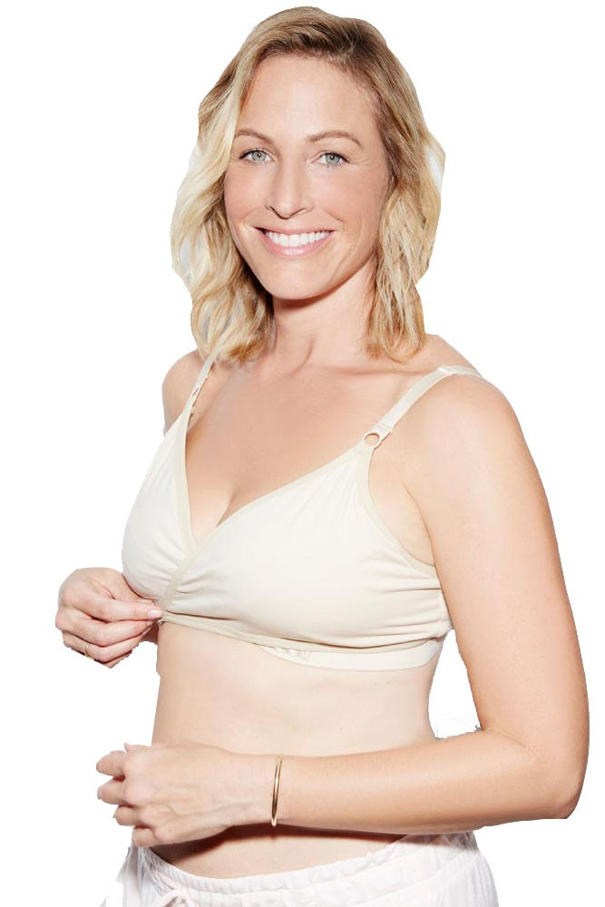 21868c81bc The Arden All-in-One Nursing   Handsfree Pumping Bra in Naked Creme ...