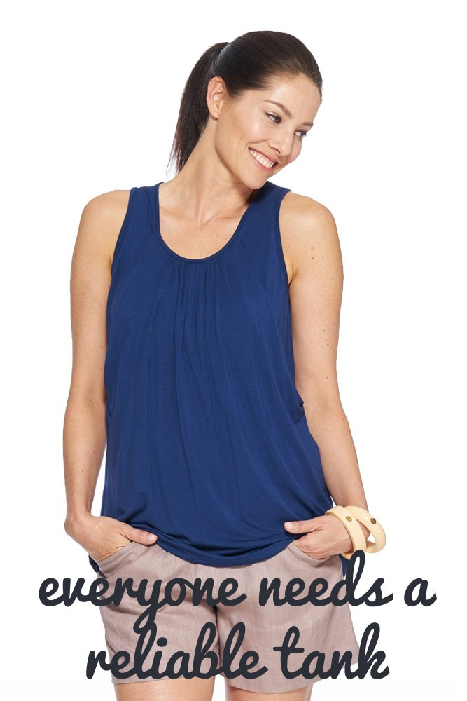 The Reliable Nursing Tank by Milky Way (Navy)