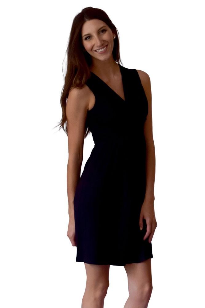 eb0f76fba43 Sophie   Eve Charlotte Bamboo Wrap Maternity   Nursing Dress - Sleeveless