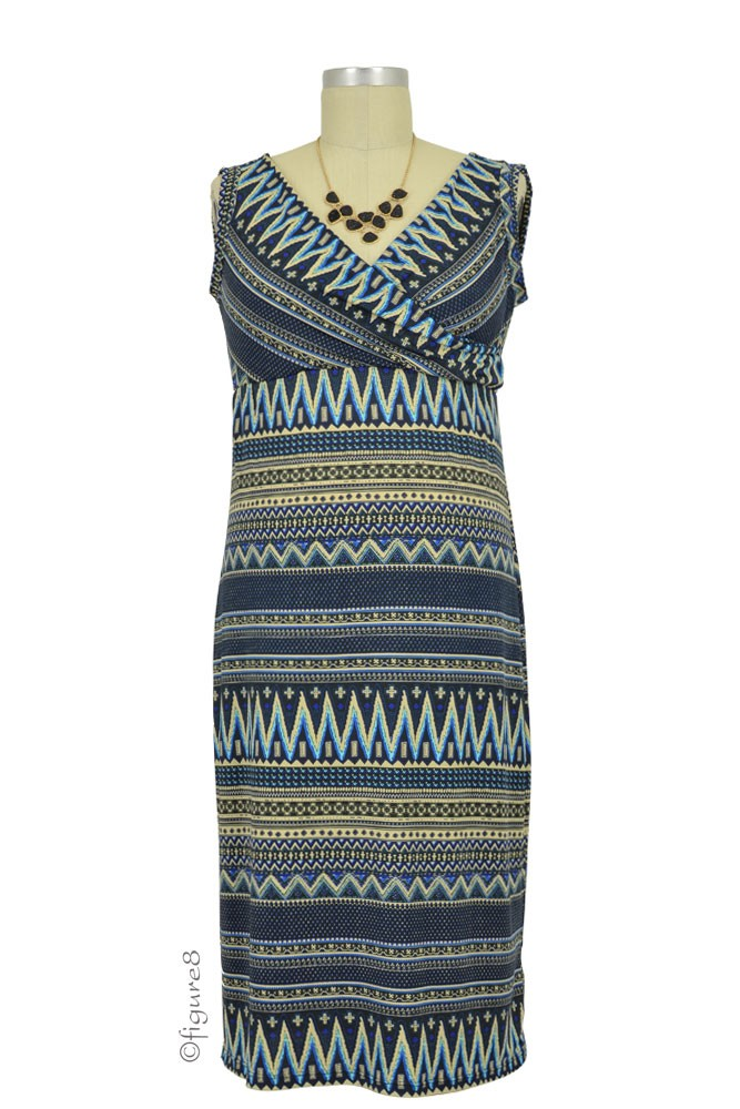 Cece Sleeveless Nursing Dress (Ethnic Print)