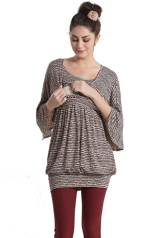 e58f5b4e3ae Justine Cocoon Maternity & Nursing Tunic/Dress in Paleo Print by ...