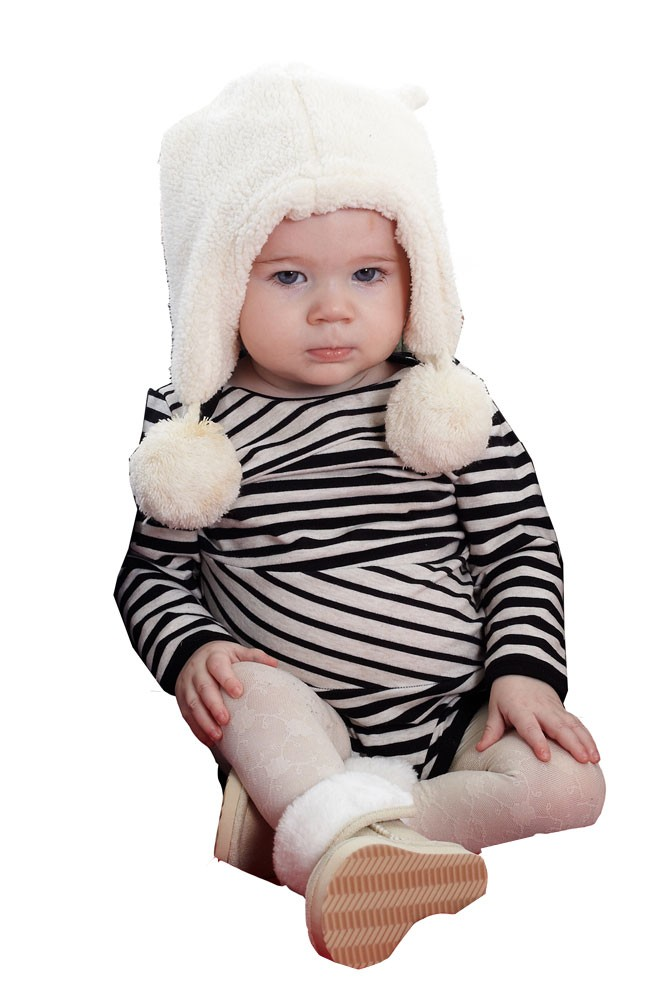 Ladder Stripes Long Sleeve Baby Onesie (Black-White)