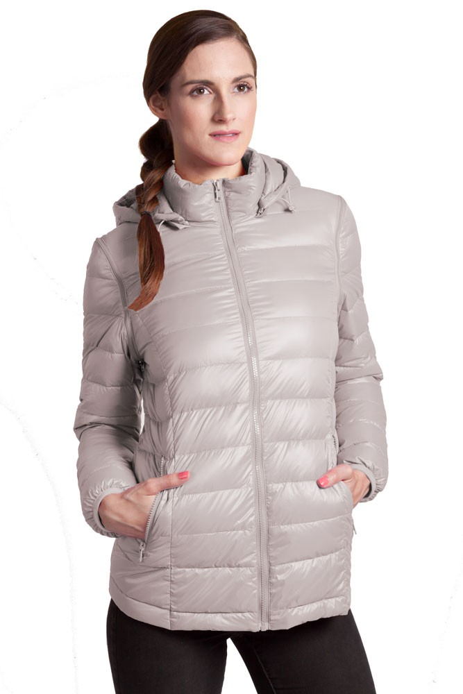 Vale 5-in-1 Lightweight Down Maternity Jacket (Grey)