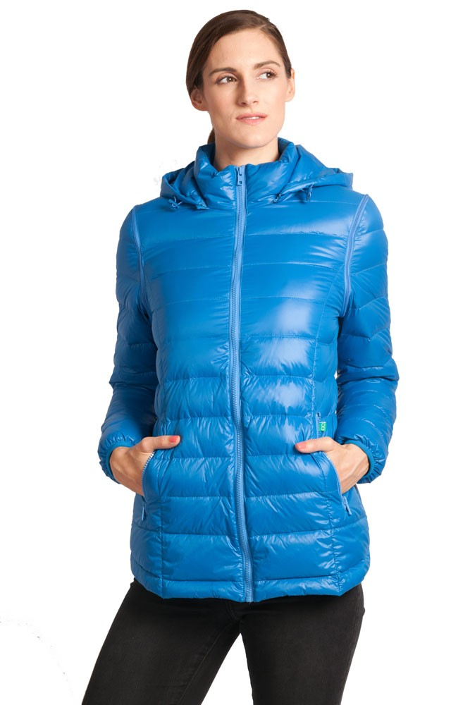 Vale 5-in-1 Lightweight Down Maternity Jacket in Blue by Modern ...
