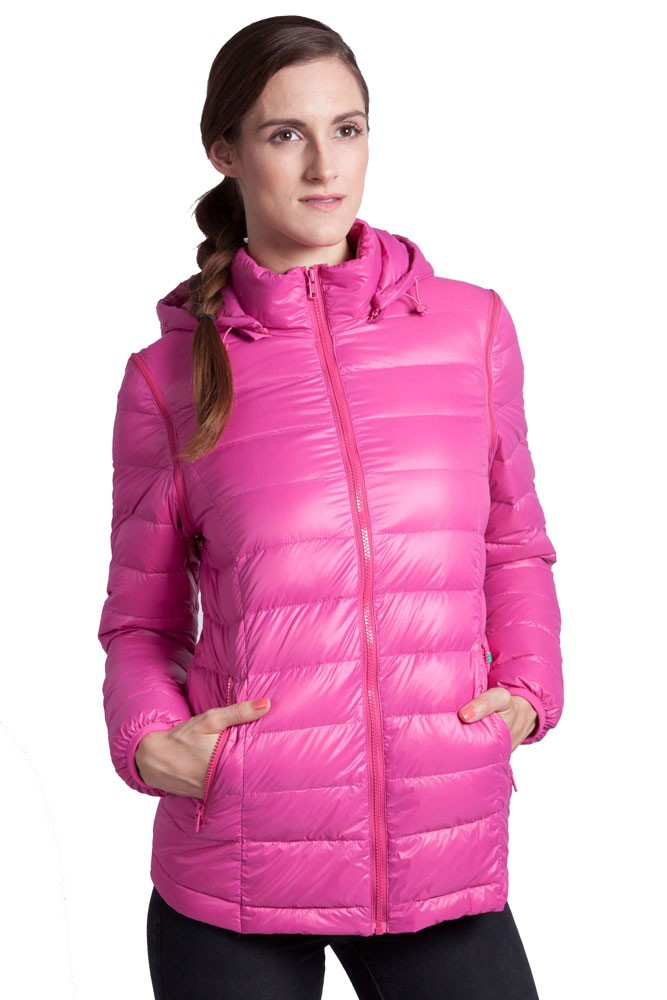 Vale 5-in-1 Lightweight Down Maternity Jacket in Raspberry by ...