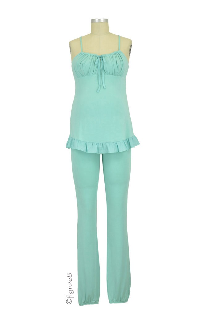 Delicious Maternity & Breastfeeding Pajama Set (Celadon)