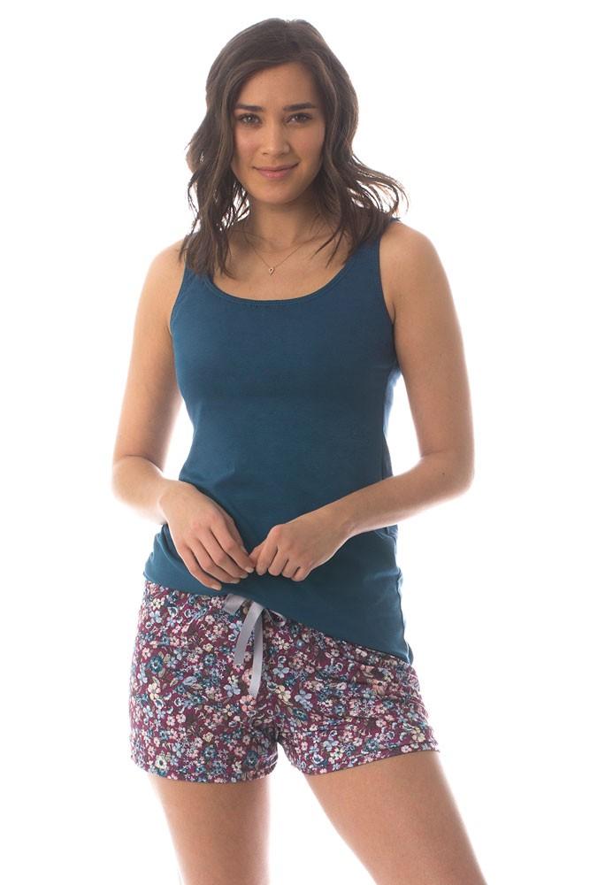 0d2a8982c079 Majamas Sunrise Maternity   Nursing PJ Shorts Set in Violetta