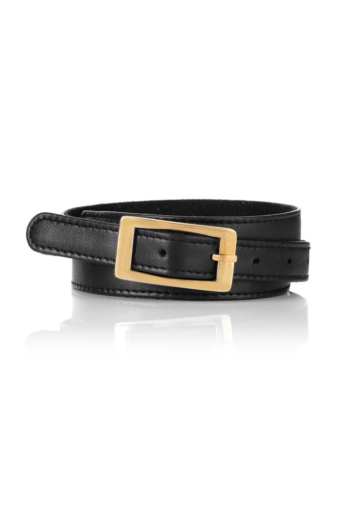 Seraphine Sparrow Adjustable Leather Belt (Black)