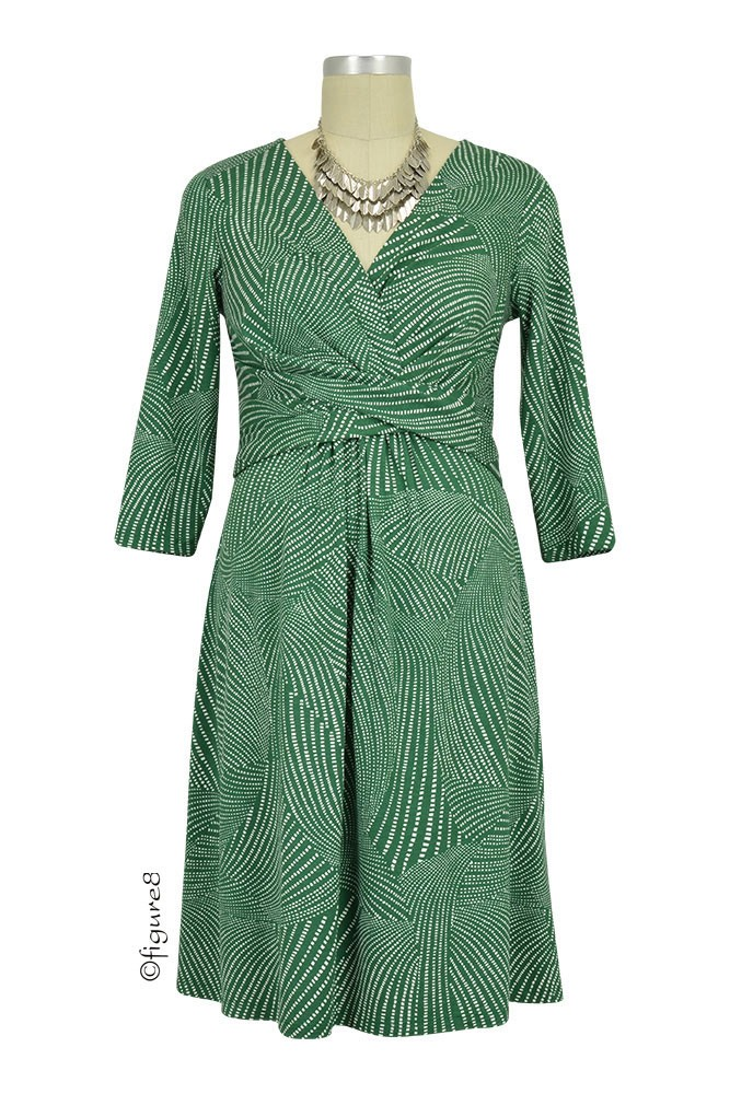 Seraphine Kelly Geo Dot Maternity Dress (Green)