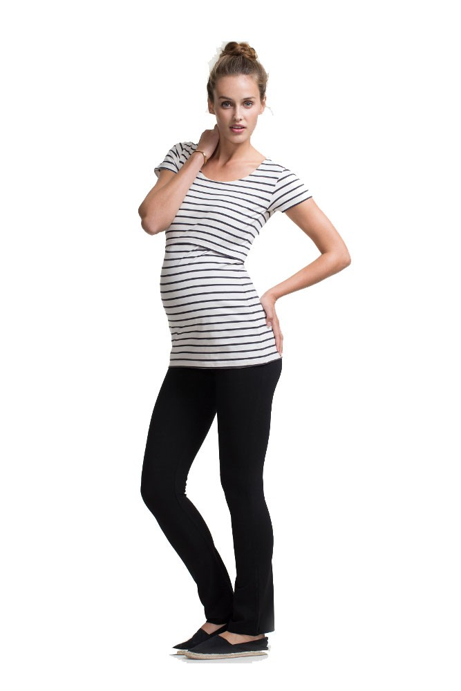 Boob Design Once-On-Never-Off Slim Maternity Pants (Black)
