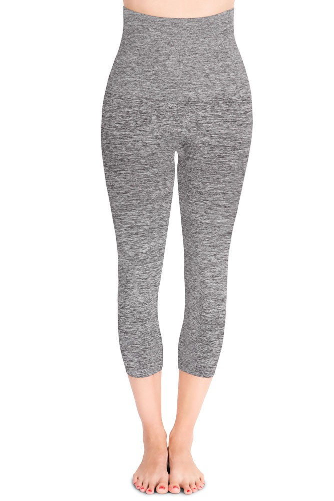 d2fdb58f87e Mother Tucker® Capri Leggings by Belly Bandit in Dark Heather Grey