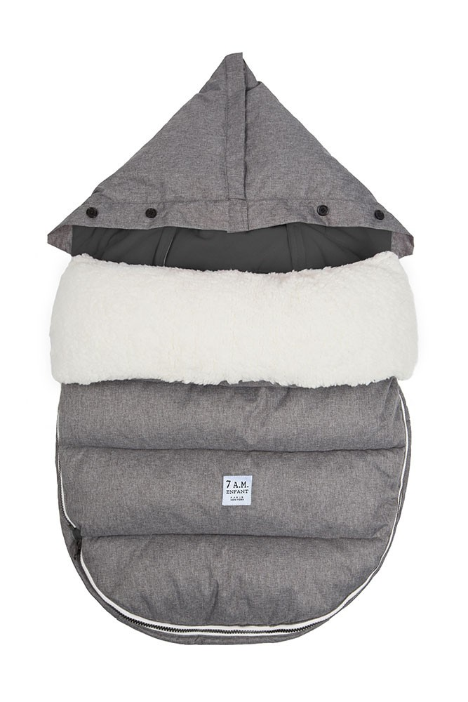 7 am Enfant LambPOD- Medium/ Large (Heather Grey/Grey Fleece)