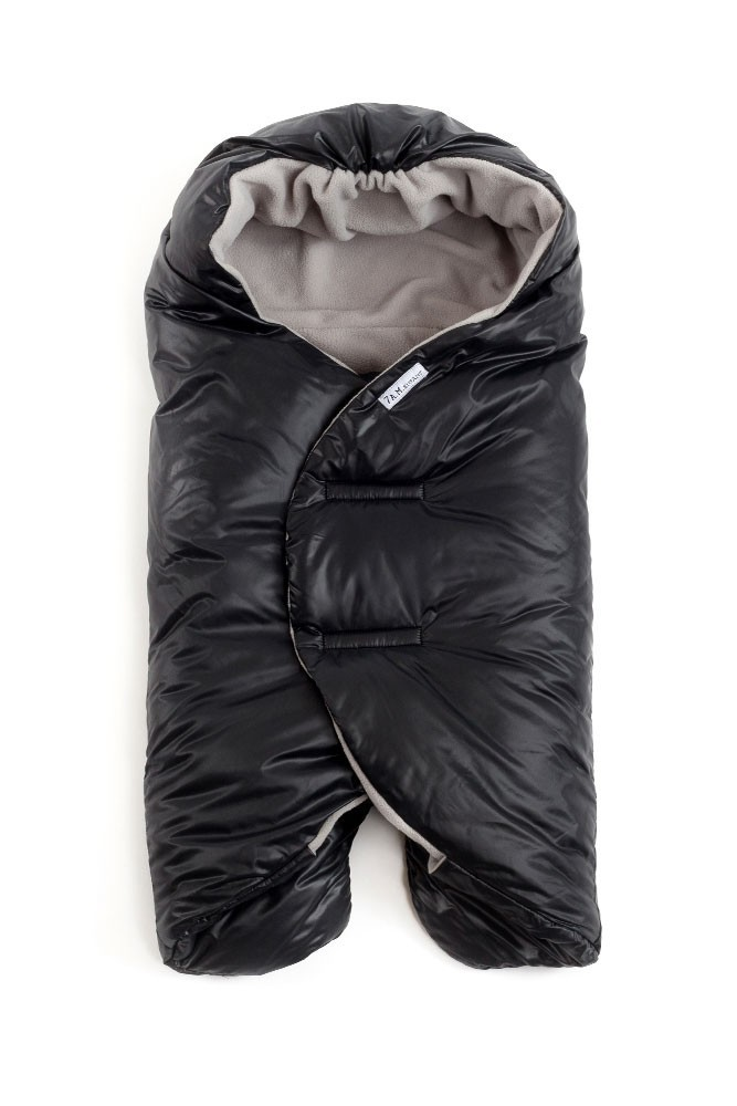 7 A.M. Enfant Nido Quilted Car-seat Baby Wrap - Large (Black)