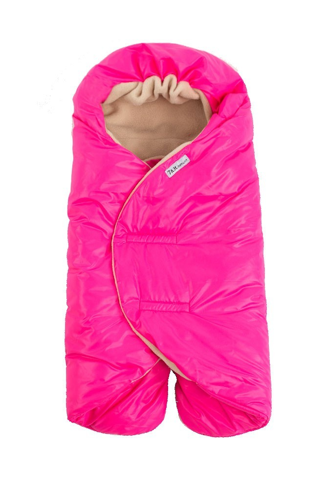7 A M Enfant Nido Quilted Car Seat Baby Wrap Large In Neon Pink