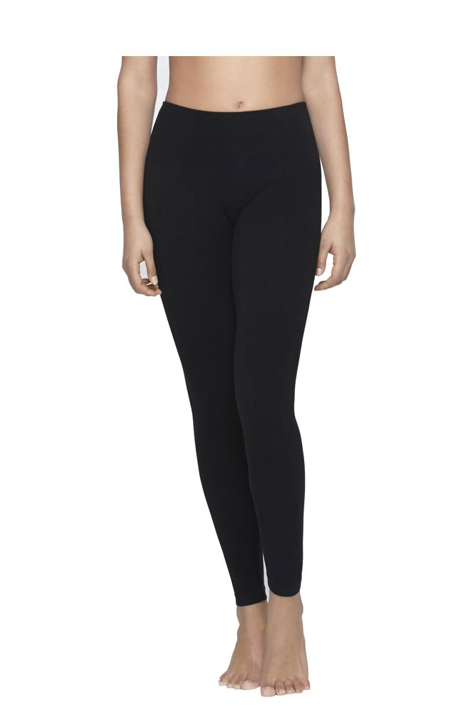 Yummie Tummie Anita Terry Lined Cotton Control Leggings (Black)
