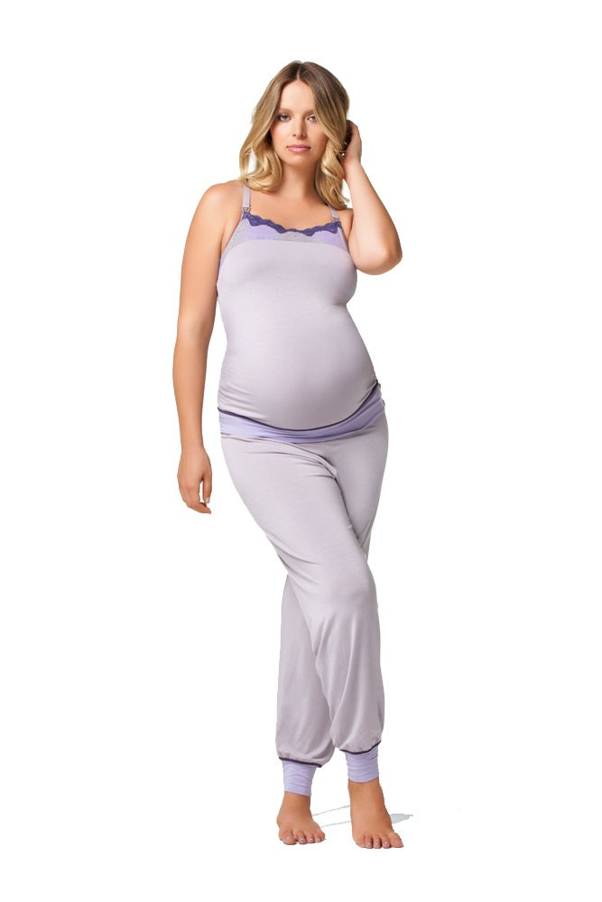 Jasmine Nursing Cami & Pant Set (Sugar Plum)