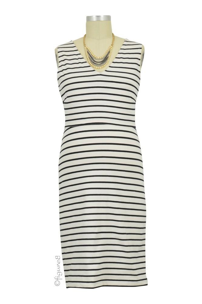 9c480738c1b23 Boob Design Simone Organic Sleeveless Maternity & Nursing Dress (Tofu Black)