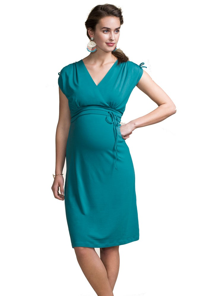 Boob Design Bianca Maternity & Nursing Dress (Green Pool)