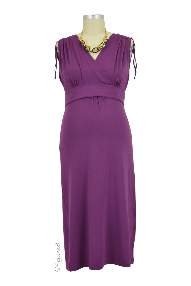 Boob Design Bianca Maternity & Nursing Dress (Plum)