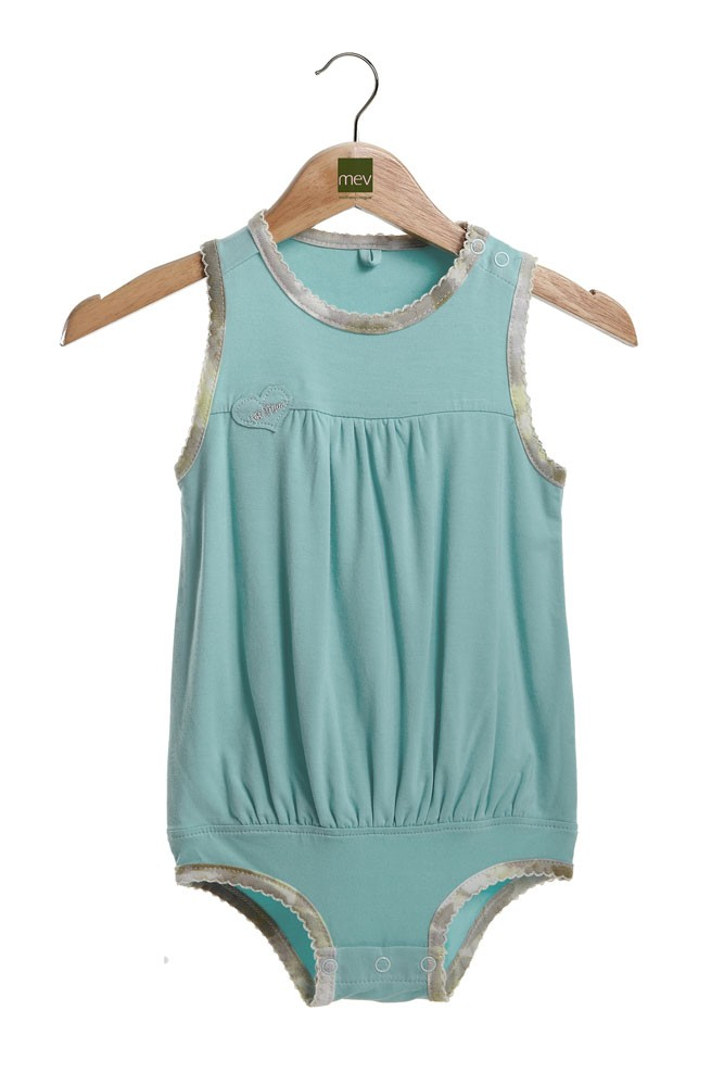 Britney Bubble Baby Onesie (Nile Blue)