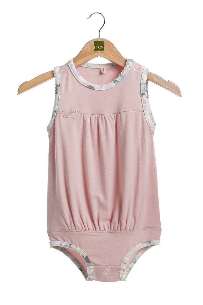 Britney Bubble Baby Onesie (Smoke Snow)